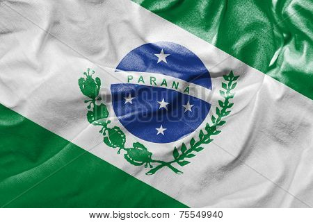Amazing flag of the State of Parana , Brazil