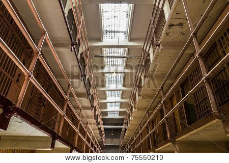 Inside of Alcatraz, San Francisco, California - USA