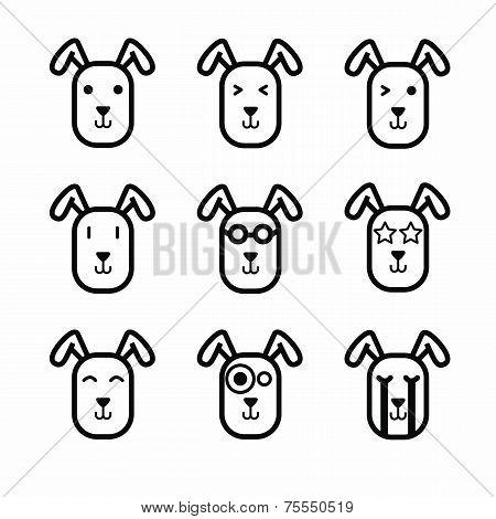Rabbit face icon vector