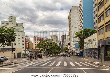 Consolacao Avenue in Sao Paulo, Brazil