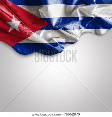 Waving flag of Cuba, Central America