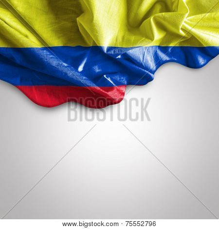 Waving flag of Colombia, Central America