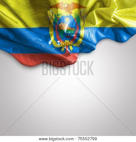 Waving flag of Ecuador, Central America