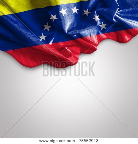 Waving flag of Venezuela, South America