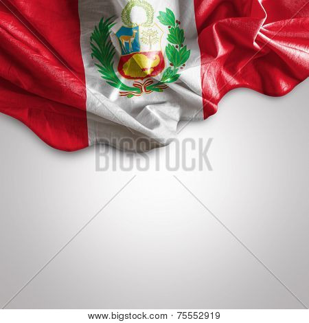 Waving flag of Peru, South America