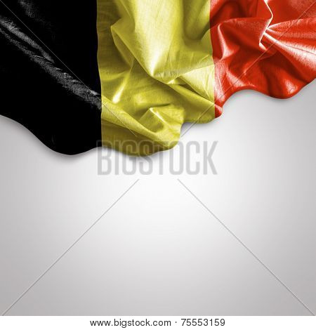 Waving Flag of Belgium, Europe