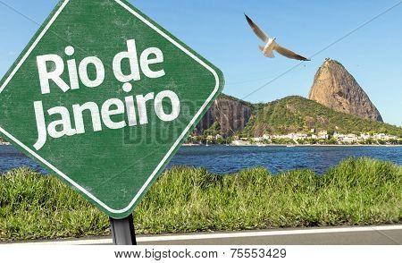 Rio de Janeiro Sign on the Loaf sugar, Brazil