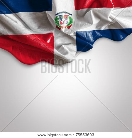 Waving flag of Dominican Republic, Central America