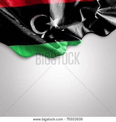 Waving flag of Libya, Africa