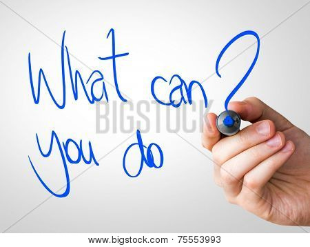 What can you do hand writing with a blue mark on a transparent board