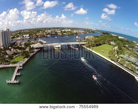 Costline Of Florida Aerial View
