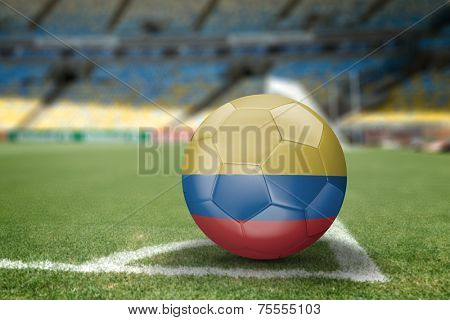Colombia soccer ball on the soccer field