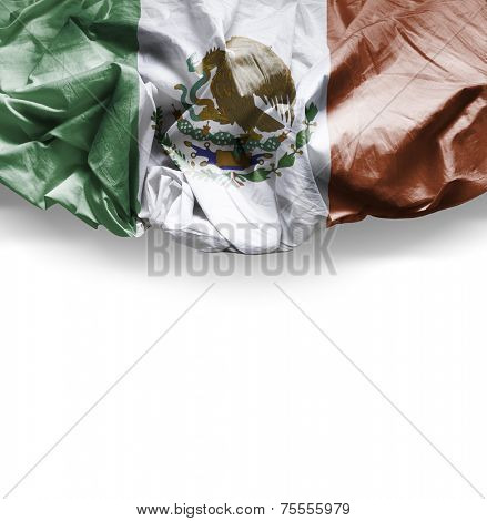 Waving flag of Mexico, Central America