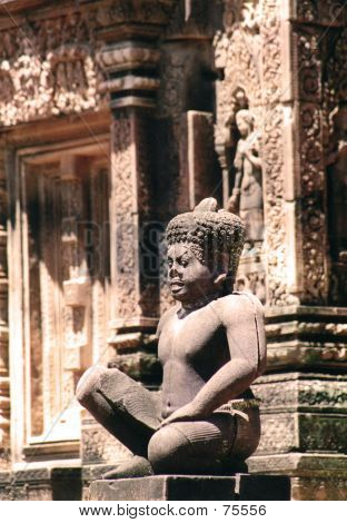 Carved Temple Figure