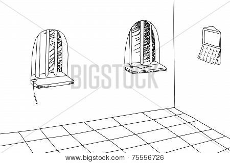 Outlined Teller Windows