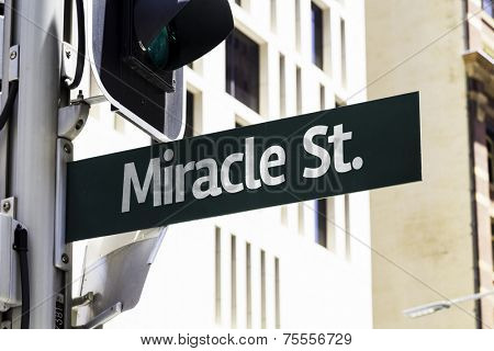 Miracle Street Creative Sign