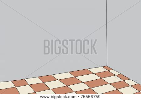 Room With Checkered Floor