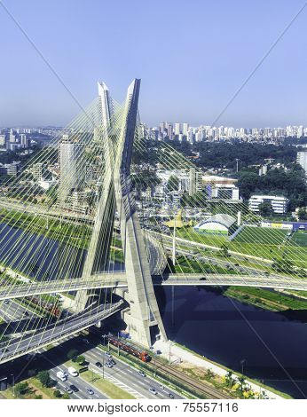 Octavio Frias Bridge in Sao Paulo, Brazil - Latin America