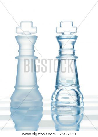Chess Glass Transparent King Isolated On White