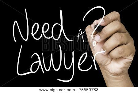 Need a Lawyer hand writing on white marker on transparent wipe board