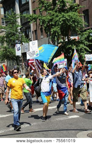 Russian-Speaking American LGBT Pride Parade participants in NY