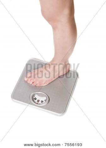 Leg on scale