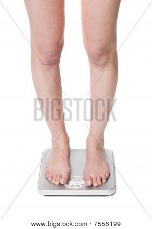 Legs on scale