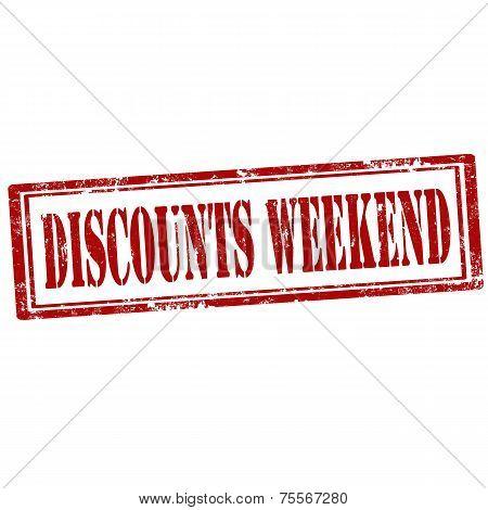 Discounts Weekend stamp