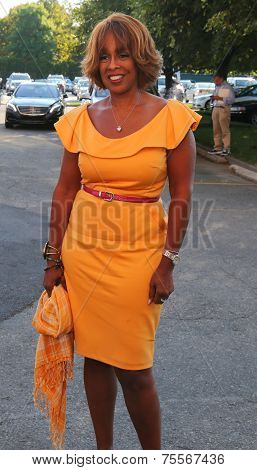 Co-anchor of CBS This Morning Gayle King at the red carpet before US Open 2014 opening night