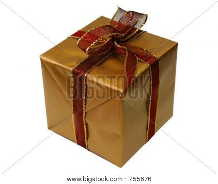 Gold and Red Gift