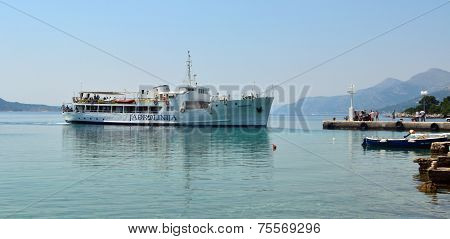 The Elaphite Island ferry