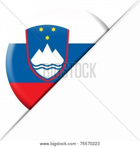 Slovenia pocket flag