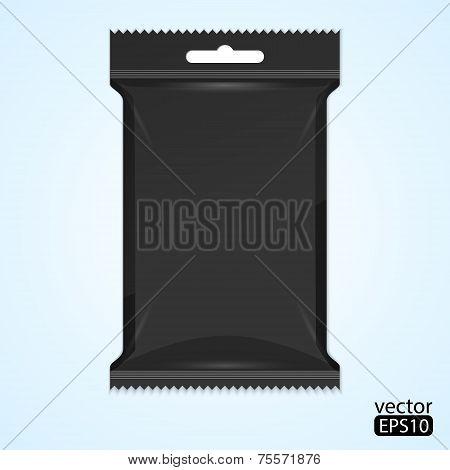 Black Sachet package