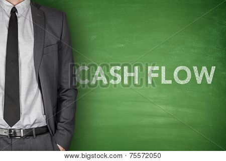 Cash flow on blackboard