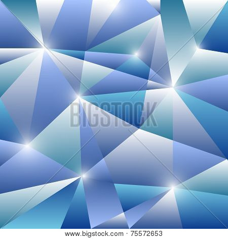 Geometric Pattern With Blue Triangles Background