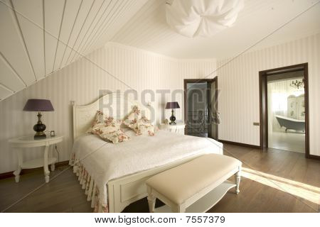 interior of a bedroom