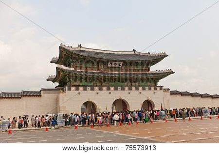 Gwanghwamun Gate (1395) Of Gyeongbokgung Palace  In Seoul, Korea
