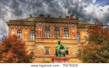 Statue Of Josip Juraj Strossmayer In Front Of Croatian Academy Of Sciences And Arts - Zagreb
