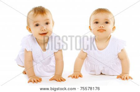 Funny Cute Twins Baby
