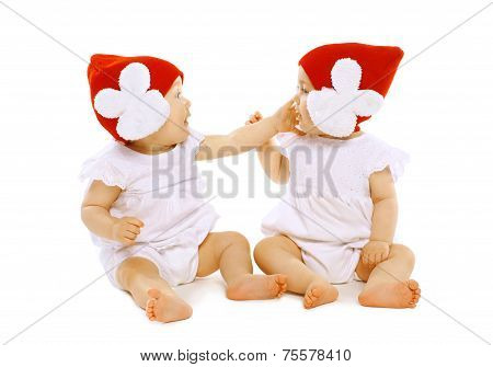 Twins Baby Playing
