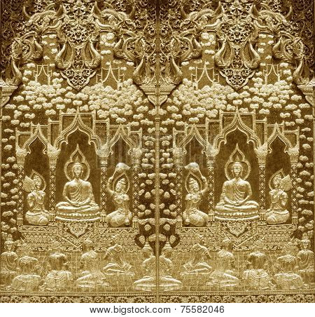 Wood Carving Buddhist Temple