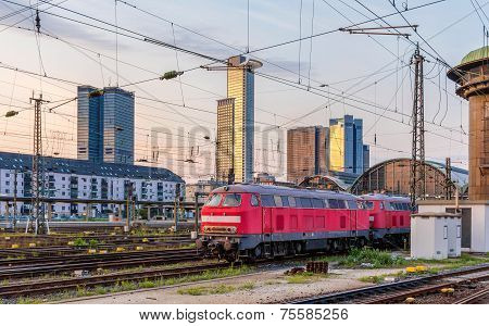 Diesel Locomotives In Frankfurt (main) Hauptbahnhof Station - Hesse, Germany
