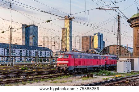 Diesel Locomotives In Frankfurt (main) Hauptbahnhof Station - Hesse, Germany