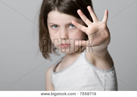 Child With Hand Up