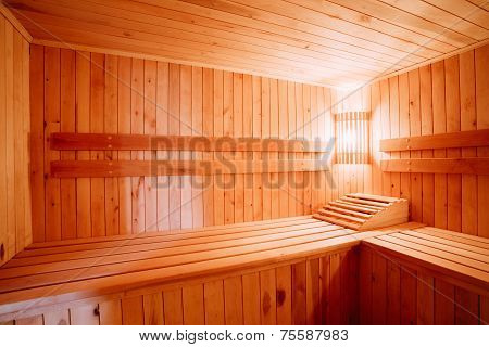Interior Of The Sauna
