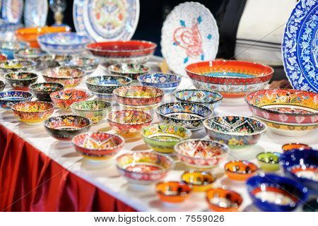 Shop Stand With Turkish Souvenirs