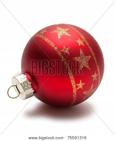 Red christmas sphere