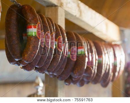 Sausages Mangalitsa Festival In Szeged, Hungary