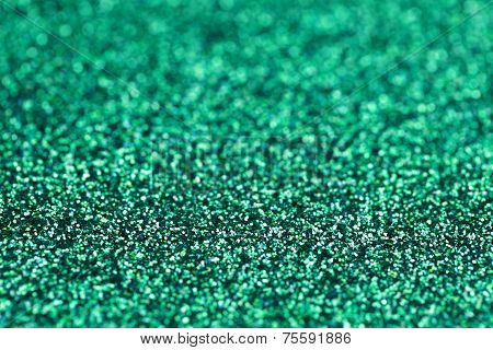 Turquoise Green Blue Sparkle Glitter background. Holiday, Christmas, Nails abstract texture