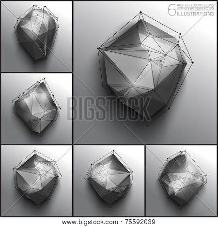 Vector abstract 3d polygons